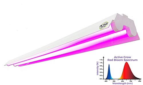 Active Grow 4FT LED Grow Light Fixture for Flowers, Fruits Propagation – 40 Watts – Red Bloom Dedicated Spectrum – Linkable Up to 5 Units – ETL Marked