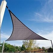 San Diego Sail Shades 16'x16'x16' Triangle (Grey) - Heavy Duty Commercial Grade Shade Sail ()