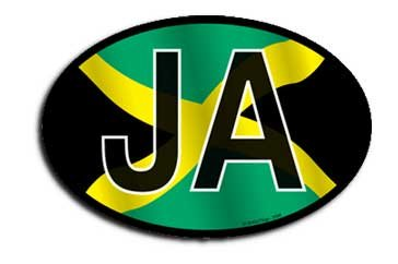 Jamaica - Wavy Oval Decal -