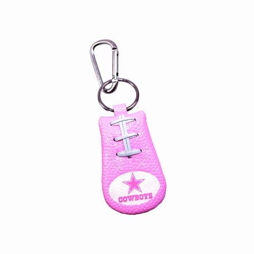 Dallas Cowboys Pink NFL Football Keychain