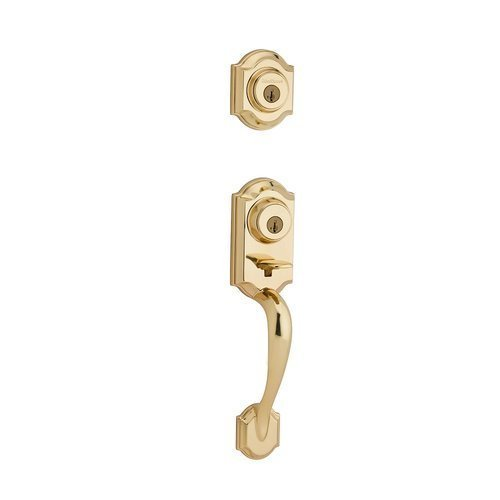 negozi al dettaglio Kwikset 554MNH 554MNH 554MNH LIP 3 SMT 6AL RCS 554MNHLIP-3S Montara Two-Point Locking Double Cylinder Handleset with SmartKey, Polished Brass, Exterior Only by Kwikset  outlet online economico