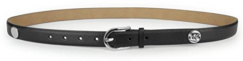 Studded Kors Michael Belt - Michael Kors Women's Silver Studded Belt, Black, Size Large
