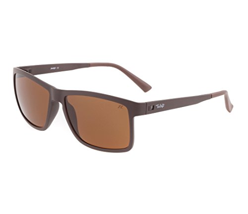 Tacloft Wayfarer 57mm HD Polarized Sunglasses TR004(Brown Frame/Brown Lens) (57 Brown Polarized Sunglasses)