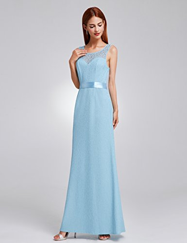 Ever-Pretty Womens Elegant Long Lace Mother Of The Bride Dress 12 US Light Blue