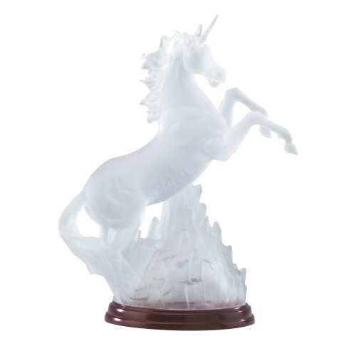 Gifts & Decor Frosted Unicorn Light Decorative Statue Rainbow - Light Frosted Unicorn