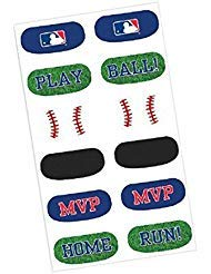 Amscan Baseball Dream Major League Face Tattoos Favour, Paper, 1/2