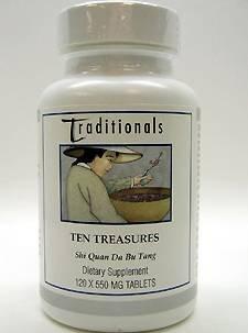 Kan Herbs Ten Treasures 120 tabs - Traditional Treasures