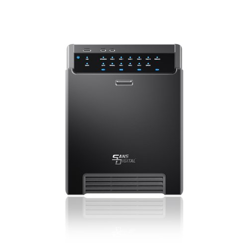 Sans Digital MobileSTOR MS4UT+B 4 Bay USB 3.0/eSATA Hardware RAID 5 Tower (Black) by Sans Digital