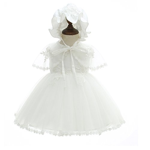 New Girls Christening Baptism Dress - Moon Kitty Baby Girl Christening Dress 3Pcs New Born Soft Party Gowns Baptism