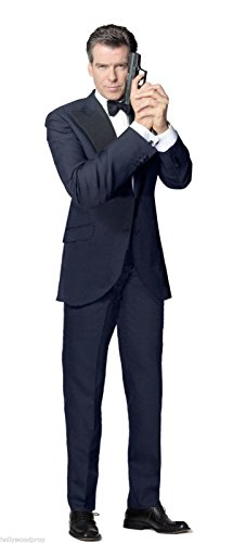 Hollywoodprop PIERCE BROSNAN JAMES BOND 007 GOLDENEYE TOMORROW NEVER DIES THE WORLD IS NOT ENOUGH DIE ANOTHER DAY LIFESIZE CARDBOARD STANDUP STANDEE CUTOUT POSTER FIGURE -
