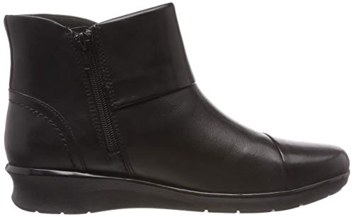 Clarks Hope Para Track black Botines Negro Leather Mujer q7vHaqpw