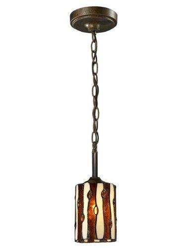 - Dale Tiffany TH12438 Diamond Hill Mini Pendant, Antique Golden Bronze