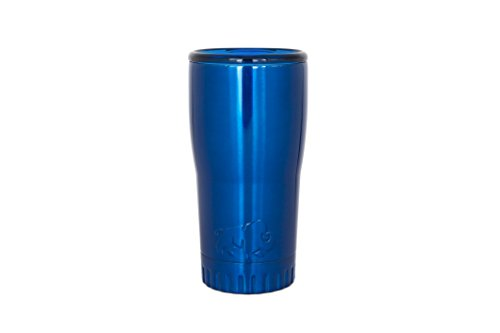 Silver Buffalo NL1001950 Stainless Steel Travel Tumbler, 20-Ounces, Blue