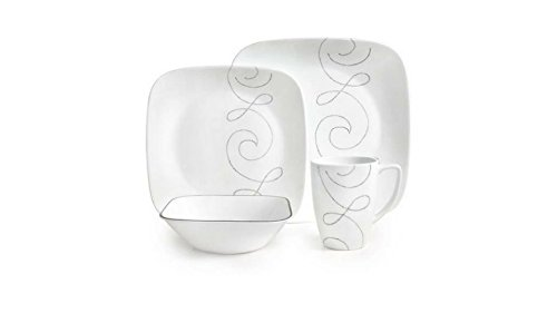 16-Piece Squares Endless Thread Dinnerware Set by Corelle