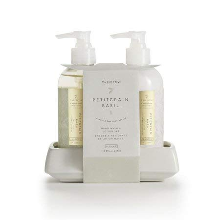 Illume Collective Hand Wash and Lotion Set 8 fl.oz each 2017 New Spring Collection! (Petitegrain Basil)