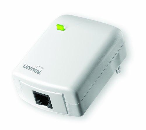 (Leviton VRC0P-1LW Vizia RF + Plug-In Serial Interface Module RS232 ASCII Interface, White)