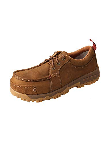 (Twisted X Women's CellStretch Composite Toe Work Boat Shoes - Distressed Saddle)