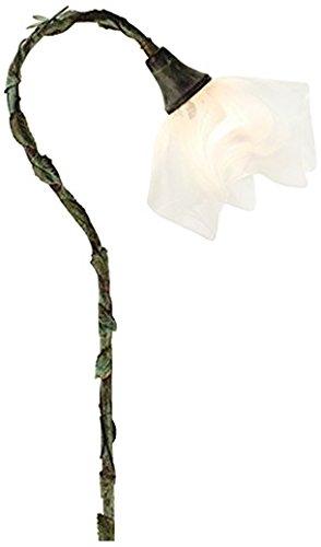 Meyda Tiffany 73555 Blanco Swirl Handkerchief Shepherd's Hook Landscape Fixture, 25