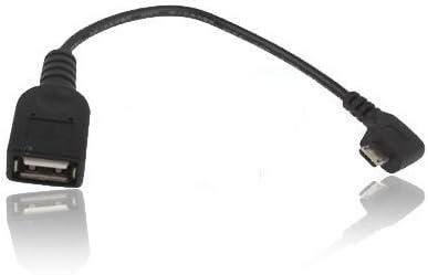 TechExpert - Cable USB OTG en ángulo de 90°, 30 cm, USB Host/Adaptador para Google Nexus 7 Tablet 16 GB | 32 GB y para Smartphones y tabletas con Puerto Micro USB OTG: Amazon.es: Informática