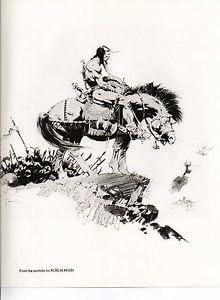 """1978 Full Color Plate /""""Kublai Khan/"""" by Frank Frazetta Fantastic GGA"""