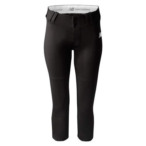 (New Balance Womens Mid-Calf Softball Pant, Black, Large )