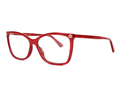 Gucci GG0025O Optical Frame 004 Red 56 mm