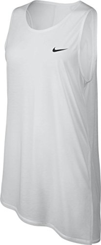 Nike Mesh Tank Top - Nike Women's Breathe Training Tank Top (White, Medium)
