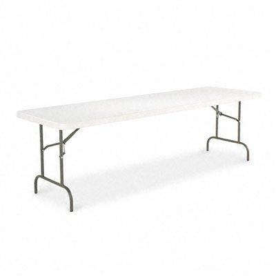 - Alera : Resin Folding Table, Rectangular, 500lb Capacity, 96w x 30d x 29h, Platinum -:- Sold as 2 Packs of - 1 - / - Total of 2 Each