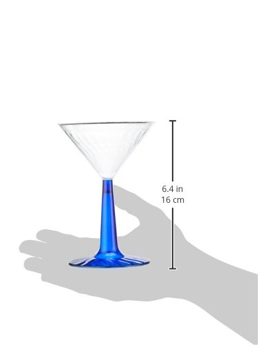 2-Piece Plastic Martini Glass - 6 oz. | Blue Stem | Flairware Collection | Pack of 12 2 PACKAGE INCLUDES: 12 Blue Stem Plastic Martini Glass - 6 oz. CLASSIC DESIGN: Plastic martini glass with blue stem and luxurious design. FOR ANY OCCASION: For special events, celebrations, birthdays, or usual home-usage.