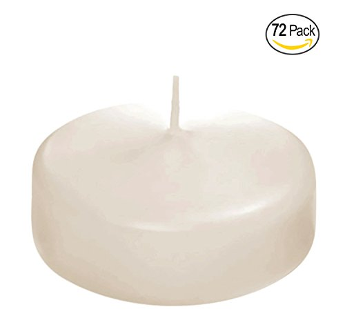 Floating disc Candles for Wedding, Birthday, Holiday & Home Decoration by Royal Imports, 2 Inch, Ivory Wax, Set of 72