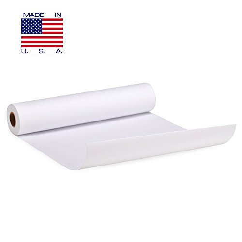 White Arts and Crafts Paper Roll - 18 inch by 200 FEET - Kraft Art & Construction Paper - Perfect for Wall Art, Painting Paper, Drawing Paper, Paper Roll for Kids Easel & Wrapping Paper - Made in USA ()