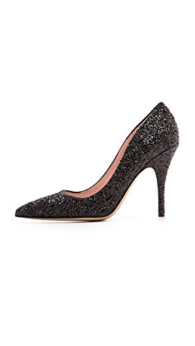 Garden Black Pump Print Licorice Glitter New Dress Pink Kate York Rose Women's Spade US Deep US w6pWqvY