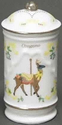 Lenox Porcelain Carousel Spice Jar - Oregano