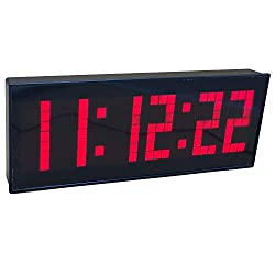 BTBSIGN LED Digital Countdown Wall Clock with Remote Gym Fitness Sport Timing Clock (Red)