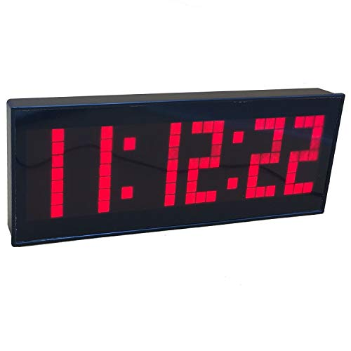 BTBSIGN LED Digital Countdown Wall Clock with Remote Gym Fitness Sport Timing Clock (Red) (Alarm Clock That Runs Around The Room)