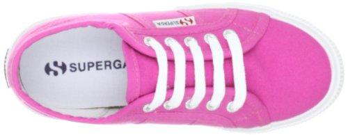 Superga 2950 Cotj - Zapatos de punta redonda con cierre de cordón Fuxia