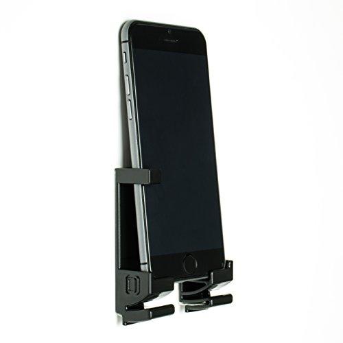 Dockem 20003-BL Damage-Free Wall Mount & Dock for Smartphone and Tablet, Black
