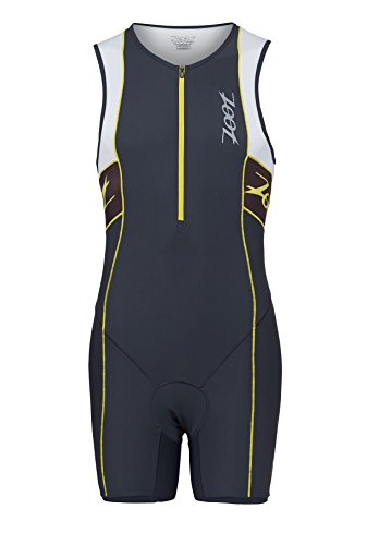 Zoot Men's Performance Tri Racesuit (Pewter/White, X Large)