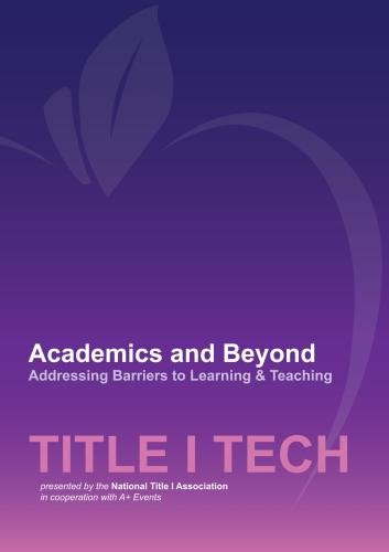 - Academics and Beyond - Addressing Barriers to Learning & Teaching