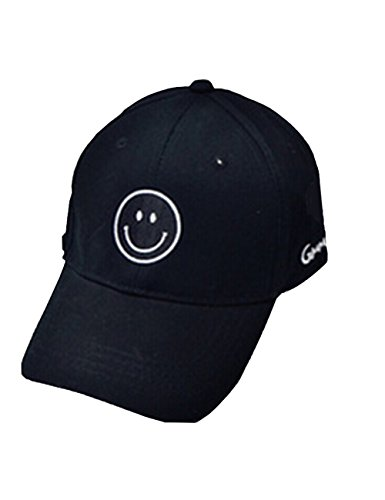 Cool Mens Baseball Cap Smile Adjustable Printed Unisex Hip Pop Flat Hats