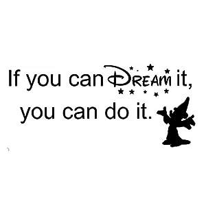 "Walt Disney""If You Can Dream It You Can Do It"" Wall Sticker (58cm x 30cm)"