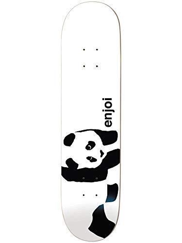 Enjoi Panda Logo Wide R7 Skateboard Deck, Whitey, 8.0