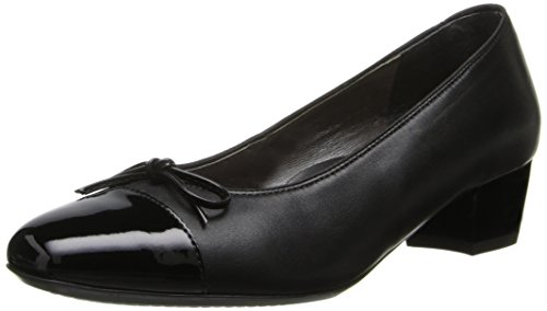 ara Women's Micha Dress Pump, Black Nappa/Patent Toe, 11 M US ()