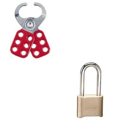 KITMLK175DLHMLK421 - Value Kit - Master Lock Resettable Combination Padlock (MLK175DLH) and Master Lock Steel Lockout Hasp (MLK421)