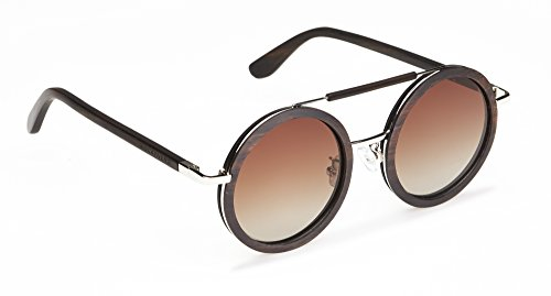 Biscayners Westwood Unisex, Wood Sunglasses Polarized Mirrored - Face Sunglasses For Of Round Images