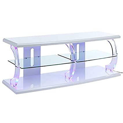 Amazon.com: ACME Furniture 91558 Aileen LED TV Stand White ...