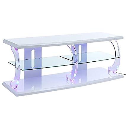 Amazon.com: ACME Furniture 91558 Aileen LED TV Stand White ...