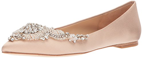 Badgley Mischka Women's Malena Ballet Flat, Latte, 7.5 M US by Badgley Mischka