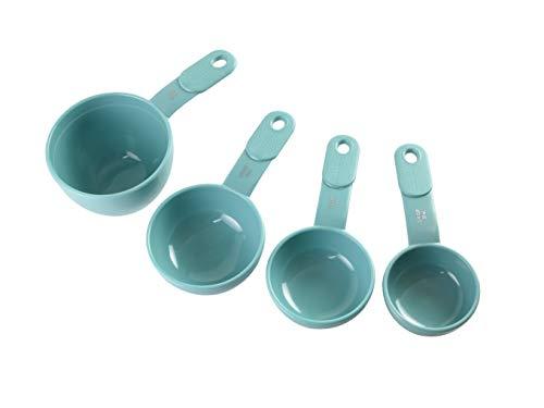 KitchenAid 9-Piece Measuring Cups and Spoons, Set of 9, Aqua Sky