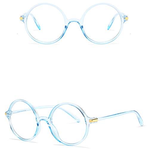 Tuscom Blue Light Blocking Glasses Anti Blue Ray Glasses Oversized Round Circle Sunglasses Nerd Eyeglasses Frame (Blue) by Tuscom@ (Image #1)
